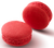 STRAWBERRY MACARON Strawberry infused white chocolate ganache in a handmade macaron shell