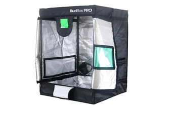 BUDBOX PRO SMALL SILVER- 2'6'x2'6'x3'3' BudBox Grow Tents have been, and remain, the most trusted name in the indoor grow tent market since its inception 15 years ago! They've been in the industry for over 15 years for a reason! BudBox continues to manufacture and supply high quality, tried, tested & trusted grow tents to both the professional & hobbyist grower. As concept developers, Bud Box Grow Tents has continued to upgrade, improve and re-style Bud Box Grow Tents in line with the feedback they have received from customers and in line with their philosophy to constantly strive for perfection. The Bud Box Pro Grow Tents range combines and amalgamates all the very best ideas, concepts & raw materials into one fantastic, strong, light proof growing environment. Maintaining a proper growing environment is crucial for a successful, high-yielding grow. Indoor growing tents provide a convenient way to isolate your growing area so you can maintain proper temperature, humidity, light and odor containment while keeping out dust and insects. BudBox grow tents are the newest, highest-quality, sturdiest tents we've used- and over many years of indoor growing, we've tried them all! Featuring the first white interior we have seen, easy assembly, easy access, sturdy frames to hold lights, filters and fans, the BudBox tents are the best way to create a self-contained environment for your indoor garden and maximize yields. A gorilla could hang from these grow tents! Pro White material offers class leading PAR results - ALL sizes available in either Pro White or Silver - Strong, black powder-coated frames in 16mm & 25mm tempered rolled steel - All metal push & click corner connectors - Quick lock, push & click pole assembly - Oversized vents - Green viewing window - Inspection doors – (from XL up) - Ground level irrigation ports – (from XL up) - Strong door clips & branded, high quality zips