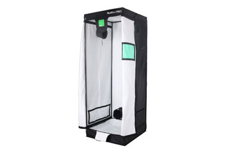 BUDBOX PRO MEDIUM PLUS WHITE -2x2 Indoor Grow Tent The whole BudBox Pro Grow Tent range is now equipped with steel, push & click fit connectors, which, in addition to the thicker tempered steel poles, provide greater load bearing strength for all your filters, fans and lighting requirements. BudBox is still the ONLY grow tent that takes the time and care to powder coat our poles and connectors, delivering the best possible anti-corrosion protection and a very clean and reflective look. Our philosophy at BudBox is and will remain the cornerstone of our success and is not open to negotiation or compromise, WE USE THE BEST THERE IS ! All the component parts used in the construction of BudBox Grow Tents are sourced, tried & tested and are guaranteed safe for plants and people to use. Maintaining a proper growing environment is crucial for a successful, high-yielding grow. Indoor growing tents provide a convenient way to isolate your growing area so you can maintain proper temperature, humidity, light and odor containment while keeping out dust and insects. BudBox grow tents are the newest, highest-quality, sturdiest tents we've used- and over many years of indoor growing, we've tried them all! Featuring the first white interior we have seen, easy assembly, easy access, sturdy frames to hold lights, filters and fans, the BudBox tents are the best way to create a self-contained environment for your indoor garden and maximize yields. A gorilla could hang from these grow tents! BudBox Grow Tents have been, and remain, the most trusted name in the indoor grow tent market since its inception 15 years ago! They've been in the industry for over 15 years for a reason! BudBox continues to manufacture and supply high quality, tried, tested & trusted grow tents to both the professional & hobbyist grower.  Pro White material offers class leading PAR results - ALL sizes available in either Pro White or Silver - Strong, black powder-coated frames in 16mm & 25mm tempered rolled steel -