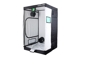 BudBox PRO XL White 4x4 grow tent The whole BudBox Pro Grow Tent range is now equipped with steel, push & click fit connectors, which, in addition to the thicker tempered steel poles, provide greater load bearing strength for all your filters, fans and lighting requirements. BudBox is still the ONLY grow tent that takes the time and care to powder coat our poles and connectors, delivering the best possible anti-corrosion protection and a very clean and reflective look. Our philosophy at BudBox is and will remain the cornerstone of our success and is not open to negotiation or compromise, WE USE THE BEST THERE IS ! All the component parts used in the construction of BudBox Grow Tents are sourced, tried & tested and are guaranteed safe for plants and people to use. Maintaining a proper growing environment is crucial for a successful, high-yielding grow. Indoor growing tents provide a convenient way to isolate your growing area so you can maintain proper temperature, humidity, light and odor containment while keeping out dust and insects. BudBox grow tents are the newest, highest-quality, sturdiest tents we've used- and over many years of indoor growing, we've tried them all! Featuring the first white interior we have seen, easy assembly, easy access, sturdy frames to hold lights, filters and fans, the BudBox tents are the best way to create a self-contained environment for your indoor garden and maximize yields. A gorilla could hang from these grow tents! BudBox Grow Tents have been, and remain, the most trusted name in the indoor grow tent market since its inception 15 years ago! They've been in the industry for over 15 years for a reason! BudBox continues to manufacture and supply high quality, tried, tested & trusted grow tents to both the professional & hobbyist grower.  Pro White material offers class leading PAR results - ALL sizes available in either Pro White or Silver - Strong, black powder-coated frames in 16mm & 25mm tempered rolled steel - All metal push &