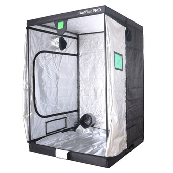 BUDBOX PRO GT-2  SILVER - 6'x7'x8' is the perfect tent for a  indoor grow room. It has a 16mm strong steel frame and a silver interior. The BudBox Pro Grow Tent comes with roof support bars and straps. The whole BudBox Pro Grow Tent range is now equipped with steel, push & click fit connectors, which, in addition to the thicker tempered steel poles, provide greater load bearing strength for all your filters, fans and lighting requirements. BudBox is still the ONLY grow tent that takes the time and care to powder coat our poles and connectors, delivering the best possible anti-corrosion protection and a very clean and reflective look. Our philosophy at BudBox is and will remain the cornerstone of our success and is not open to negotiation or compromise, WE USE THE BEST THERE IS ! All the component parts used in the construction of BudBox Grow Tents are sourced, tried & tested and are guaranteed safe for plants and people to use.  Maintaining a proper growing environment is crucial for a successful, high-yielding grow. Indoor growing tents provide a convenient way to isolate your growing area so you can maintain proper temperature, humidity, light and odor containment while keeping out dust and insects. BudBox grow tents are the newest, highest-quality, sturdiest tents we've used- and over many years of indoor growing, we've tried them all! Featuring the first white interior we have seen, easy assembly, easy access, sturdy frames to hold lights, filters and fans, the BudBox tents are the best way to create a self-contained environment for your indoor garden and maximize yields. A gorilla could hang from these grow tents!   FEATURES - Strongest tent available - Award winning grow tents - Strong, black powder-coated frames 25mm tempered rolled steel - All metal push & click corner connectors - Large access doors / Inspection windows - Military grade zippers - Green viewing window - Double stitched seams - Uplift irrigation bar - Double cuff vents - 20% oversized vents -