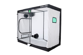 BudBox 4x8 grow tents have been, and remain, the most trusted name in the indoor grow tent market since its inception 15 years ago! They've been in the industry for over 15 years for a reason! BudBox continues to manufacture and supply high quality, tried, tested & trusted grow tents to both the professional & hobbyist grower. As concept developers, Bud Box Grow Tents has continued to upgrade, improve and re-style Bud Box Grow Tents in line with the feedback they have received from customers and in line with their philosophy to constantly strive for perfection. The Bud Box Pro Grow Tents range combines and amalgamates all the very best ideas, concepts & raw materials into one fantastic, strong, light proof growing environment. Maintaining a proper growing environment is crucial for a successful, high-yielding grow. Indoor growing tents provide a convenient way to isolate your growing area so you can maintain proper temperature, humidity, light and odor containment while keeping out dust and insects. BudBox grow tents are the newest, highest-quality, sturdiest tents we've used- and over many years of indoor growing, we've tried them all! Featuring the first white interior we have seen, easy assembly, easy access, sturdy frames to hold lights, filters and fans, the BudBox tents are the best way to create a self-contained environment for your indoor garden and maximize yields. A gorilla could hang from these grow tents!   Pro White material offers class leading PAR results - ALL sizes available in either Pro White or Silver - Strong, black powder-coated frames in 16mm & 25mm tempered rolled steel - All metal push & click corner connectors - Quick lock, push & click pole assembly - Oversized vents - Green viewing window - Inspection doors – (from XL up) - Ground level irrigation ports – (from XL up) - Strong door clips & branded, high quality zips