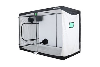 BudBox  PRO XXL PLUS White 5x10 Grow Tents have been, and remain, the most trusted name in the indoor grow tent market since its inception 15 years ago! They've been in the industry for over 15 years for a reason! BudBox continues to manufacture and supply high quality, tried, tested & trusted grow tents to both the professional & hobbyist grower. As concept developers, Bud Box Grow Tents has continued to upgrade, improve and re-style Bud Box Grow Tents in line with the feedback they have received from customers and in line with their philosophy to constantly strive for perfection. The Bud Box Pro Grow Tents range combines and amalgamates all the very best ideas, concepts & raw materials into one fantastic, strong, light proof growing environment. Maintaining a proper growing environment is crucial for a successful, high-yielding grow. Indoor growing tents provide a convenient way to isolate your growing area so you can maintain proper temperature, humidity, light and odor containment while keeping out dust and insects. BudBox grow tents are the newest, highest-quality, sturdiest tents we've used- and over many years of indoor growing, we've tried them all! Featuring the first white interior we have seen, easy assembly, easy access, sturdy frames to hold lights, filters and fans, the BudBox tents are the best way to create a self-contained environment for your indoor garden and maximize yields. A gorilla could hang from these grow tents!   Pro White material offers class leading PAR results - ALL sizes available in either Pro White or Silver - Strong, black powder-coated frames in 16mm & 25mm tempered rolled steel - All metal push & click corner connectors - Quick lock, push & click pole assembly - Oversized vents - Green viewing window - Inspection doors – (from XL up) - Ground level irrigation ports – (from XL up) - Strong door clips & branded, high quality zips