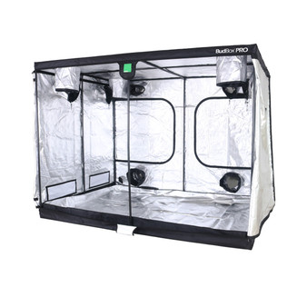 BudBox Grow Tents have been, and remain, the most trusted name in the indoor grow tent market since its inception 15 years ago! They've been in the industry for over 15 years for a reason! BudBox continues to manufacture and supply high quality, tried, tested & trusted grow tents to both the professional & hobbyist grower.  As concept developers, Bud Box Grow Tents has continued to upgrade, improve and re-style Bud Box Grow Tents in line with the feedback they have received from customers and in line with their philosophy to constantly strive for perfection. The Bud Box Pro Grow Tents range combines and amalgamates all the very best ideas, concepts & raw materials into one fantastic, strong, light proof growing environment.  Maintaining a proper growing environment is crucial for a successful, high-yielding grow. Indoor growing tents provide a convenient way to isolate your growing area so you can maintain proper temperature, humidity, light and odor containment while keeping out dust and insects. BudBox grow tents are the newest, highest-quality, sturdiest tents we've used- and over many years of indoor growing, we've tried them all! Featuring the first white interior we have seen, easy assembly, easy access, sturdy frames to hold lights, filters and fans, the BudBox tents are the best way to create a self-contained environment for your indoor garden and maximize yields. A gorilla could hang from these grow tents!  - Strongest tent available - Award winning grow tents - Strong, black powder-coated frames 25mm tempered rolled steel - All metal push & click corner connectors - Large access doors / Inspection windows - Military grade zippers - Green viewing window - Double stitched seams - Uplift irrigation bar - Double cuff vents - 20% oversized vents - Screamed passive vents - Water proof drip tray - Roof hanging bars - Silicon pads for roof bars - Clips to hold main door open - Hanging straps provides - Canvas completely unzips - Huge range of sizes - Inspection do