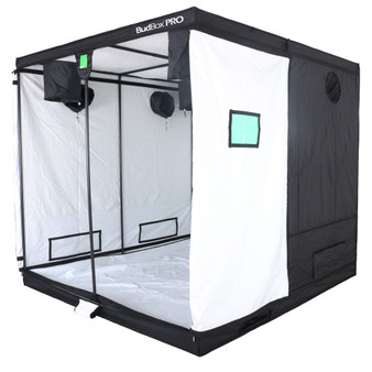 BudBox Grow Tents have been, and remain, the most trusted name in the indoor grow tent market since its inception 15 years ago! They've been in the industry for over 15 years for a reason! BudBox continues to manufacture and supply high quality, tried, tested & trusted grow tents to both the professional & hobbyist grower. As concept developers, Bud Box Grow Tents has continued to upgrade, improve and re-style Bud Box Grow Tents in line with the feedback they have received from customers and in line with their philosophy to constantly strive for perfection. The Bud Box Pro Grow Tents range combines and amalgamates all the very best ideas, concepts & raw materials into one fantastic, strong, light proof growing environment. Maintaining a proper growing environment is crucial for a successful, high-yielding grow. Indoor growing tents provide a convenient way to isolate your growing area so you can maintain proper temperature, humidity, light and odor containment while keeping out dust and insects. BudBox grow tents are the newest, highest-quality, sturdiest tents we've used- and over many years of indoor growing, we've tried them all! Featuring the first white interior we have seen, easy assembly, easy access, sturdy frames to hold lights, filters and fans, the BudBox tents are the best way to create a self-contained environment for your indoor garden and maximize yields. A gorilla could hang from these grow tents!   Pro White material offers class leading PAR results - ALL sizes available in either Pro White or Silver - Strong, black powder-coated frames in 16mm & 25mm tempered rolled steel - All metal push & click corner connectors - Quick lock, push & click pole assembly - Oversized vents - Green viewing window - Inspection doors – (from XL up) - Ground level irrigation ports – (from XL up) - Strong door clips & branded, high quality zips