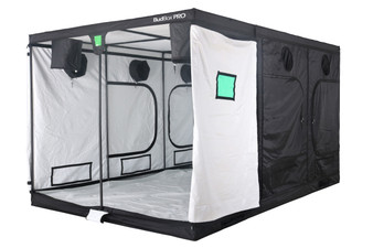 The perfect Pro Grow Tent. It has a 16mm strong steel frame and a silver interior. The BudBox Pro XXL White is BudBox has been, and remains, the most trusted name in the indoor grow tent market since its inception 15 years ago! They've been in the industry for over 15 years for a reason! BudBox continues to manufacture and supply high quality, tried, tested & trusted grow tents to both the professional & hobbyist grower. As concept developers, Bud Box has continued to upgrade, improve and re-style Bud Box Grow Tents in line with the feedback they have received from customers and in line with their philosophy to constantly strive for perfection. The Bud Box Pro Grow Tent range combines and amalgamates all the very best ideas, concepts & raw materials into one fantastic, strong, light proof growing environment. -Pro White material offers class leading PAR results -Award winning grow tents -Strong, black powder-coated frames 25mm tempered rolled steel -All metal push & click corner connectors - Large access doors / Inspection windows -Military grade zippers -Green viewing window - Double stitched seams - Uplift irrigation bar - Double cuff vents - 20% oversized vents - Screamed passive vents - Water proof drip tray - Roof hanging bars - Silicon pads for roof bars - Clips to hold main door open - Hanging straps provides - Canvas completely unzips - Huge range of sizes -Inspection doors – (from XL up) -Ground level irrigation ports – (from XL up)   Look no further for your grow tent than BudBox. BudBox is the most trusted name in the indoor grow tent market in the UK and one of the most trusted brands in the entire world. They have been making grow tents for 15 years for a reason! Grow with Bud Box today!