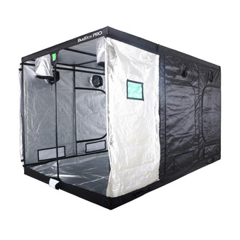 BudBox Grow Tents have been, and remain, the most trusted name in the indoor grow tent market since its inception 15 years ago! They've been in the industry for over 15 years for a reason! BudBox continues to manufacture and supply high quality, tried, tested & trusted grow tents to both the professional & hobbyist grower. As concept developers, Bud Box Grow Tents has continued to upgrade, improve and re-style Bud Box Grow Tents in line with the feedback they have received from customers and in line with their philosophy to constantly strive for perfection. The Bud Box Pro Grow Tents range combines and amalgamates all the very best ideas, concepts & raw materials into one fantastic, strong, light proof growing environment. Pro White material offers class leading PAR results - ALL sizes available in either Pro White or Silver - Strong, black powder-coated frames in 16mm & 25mm tempered rolled steel - All metal push & click corner connectors - Quick lock, push & click pole assembly - Oversized vents - Green viewing window - Inspection doors – (from XL up) - Ground level irrigation ports – (from XL up) - Strong door clips & branded, high quality zips