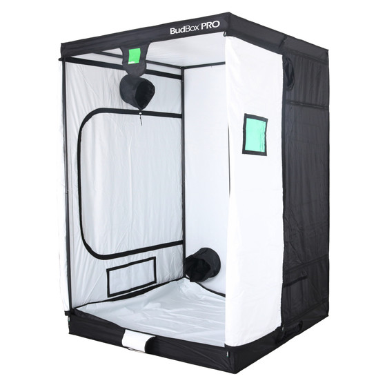 BudBox PRO XL PLUS White 5x5 indoor grow tent The whole BudBox Pro Grow Tent range is now equipped with steel, push & click fit connectors, which, in addition to the thicker tempered steel poles, provide greater load bearing strength for all your filters, fans and lighting requirements. BudBox is still the ONLY grow tent that takes the time and care to powder coat our poles and connectors, delivering the best possible anti-corrosion protection and a very clean and reflective look. Our philosophy at BudBox is and will remain the cornerstone of our success and is not open to negotiation or compromise, WE USE THE BEST THERE IS ! All the component parts used in the construction of BudBox Grow Tents are sourced, tried & tested and are guaranteed safe for plants and people to use. Maintaining a proper growing environment is crucial for a successful, high-yielding grow. Indoor growing tents provide a convenient way to isolate your growing area so you can maintain proper temperature, humidity, light and odor containment while keeping out dust and insects. BudBox grow tents are the newest, highest-quality, sturdiest tents we've used- and over many years of indoor growing, we've tried them all! Featuring the first white interior we have seen, easy assembly, easy access, sturdy frames to hold lights, filters and fans, the BudBox tents are the best way to create a self-contained environment for your indoor garden and maximize yields. A gorilla could hang from these grow tents! BudBox Grow Tents have been, and remain, the most trusted name in the indoor grow tent market since its inception 15 years ago! They've been in the industry for over 15 years for a reason! BudBox continues to manufacture and supply high quality, tried, tested & trusted grow tents to both the professional & hobbyist grower.   FEATURES Pro White material offers class leading PAR results - ALL sizes available in either Pro White or Silver - Strong, black powder-coated frames in 16mm & 25mm tempered rolled st