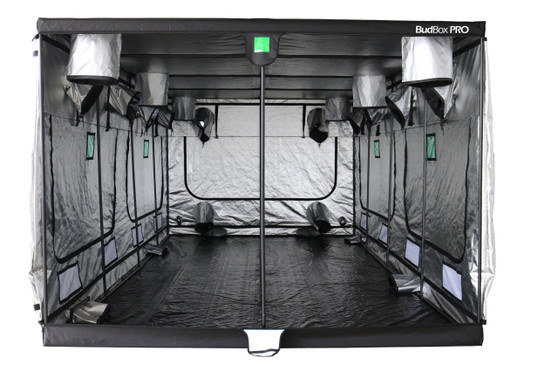 BudBox has been, and remains, the most trusted name in the indoor grow tent market since its inception 15 years ago! They've been in the industry for over 15 years for a reason! BudBox continues to manufacture and supply high quality, tried, tested & trusted grow tents to both the professional & hobbyist grower. As concept developers, Bud Box has continued to upgrade, improve and re-style Bud Box Grow Tents in line with the feedback they have received from customers and in line with their philosophy to constantly strive for perfection. The Bud Box Pro Grow Tent range combines and amalgamates all the very best ideas, concepts & raw materials into one fantastic, strong, light proof growing environment. -29 sizes available from (in cm) 75x75x100 to the HUGE Titan 6 – 600x300x220 -ALL sizes available in either Pro White or Silver -Pitched roofs available in 3 sizes -Strong, black powder-coated frames in 16mm & 25mm tempered rolled steel -All metal push & click corner connectors -Quick lock, push & click pole assembly -Oversized vents -Green viewing window -Inspection doors – (from XL up) -Ground level irrigation ports – (from XL up) -Strong door clips & branded, high quality zips