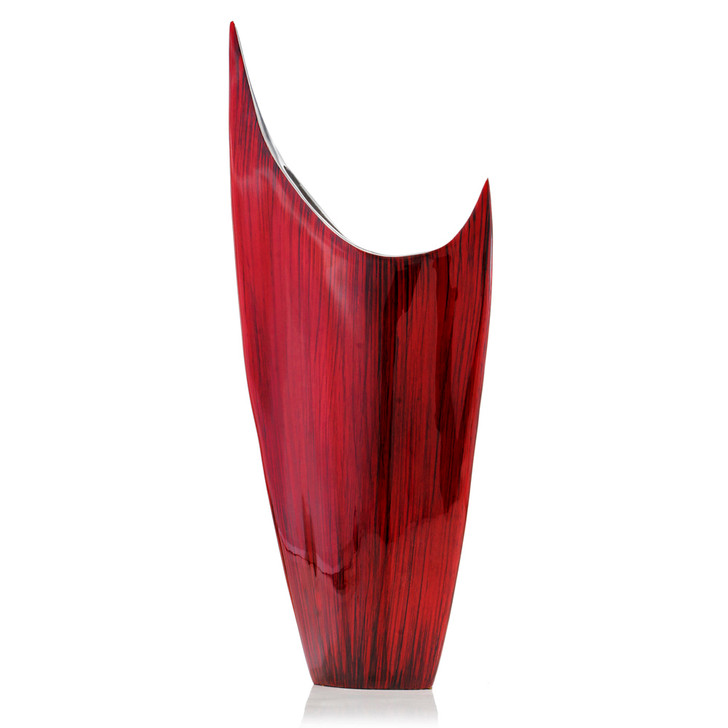 Acentuada Pointed Red Glaze Vase