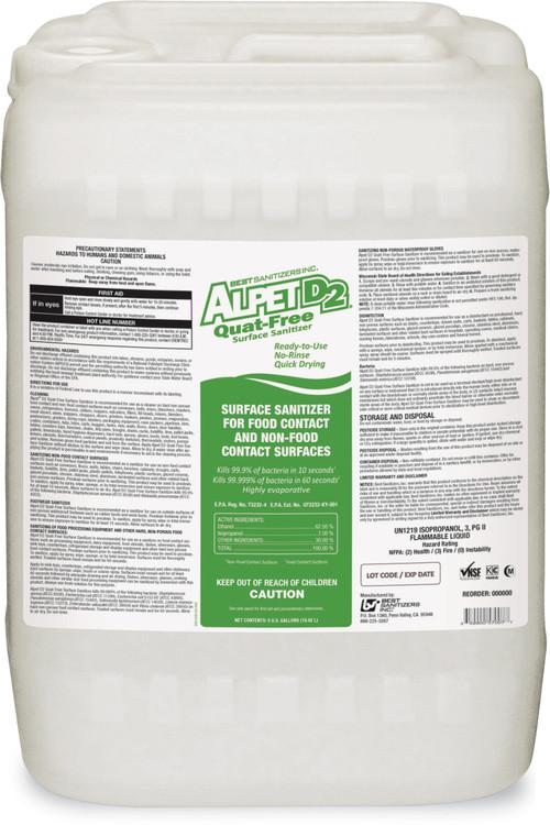 Ss10031 Bss Alpet D2 Quat Free Surface Sanitizer 5 Gallon