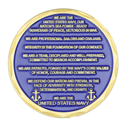 United States Navy Ethos Challenge Coin