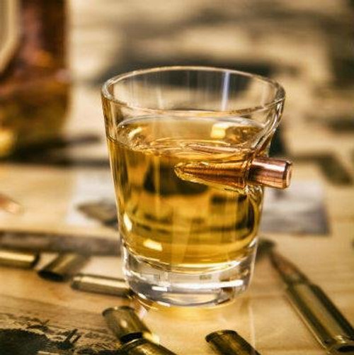 .308 Real Bullet Handblown Shot Glass