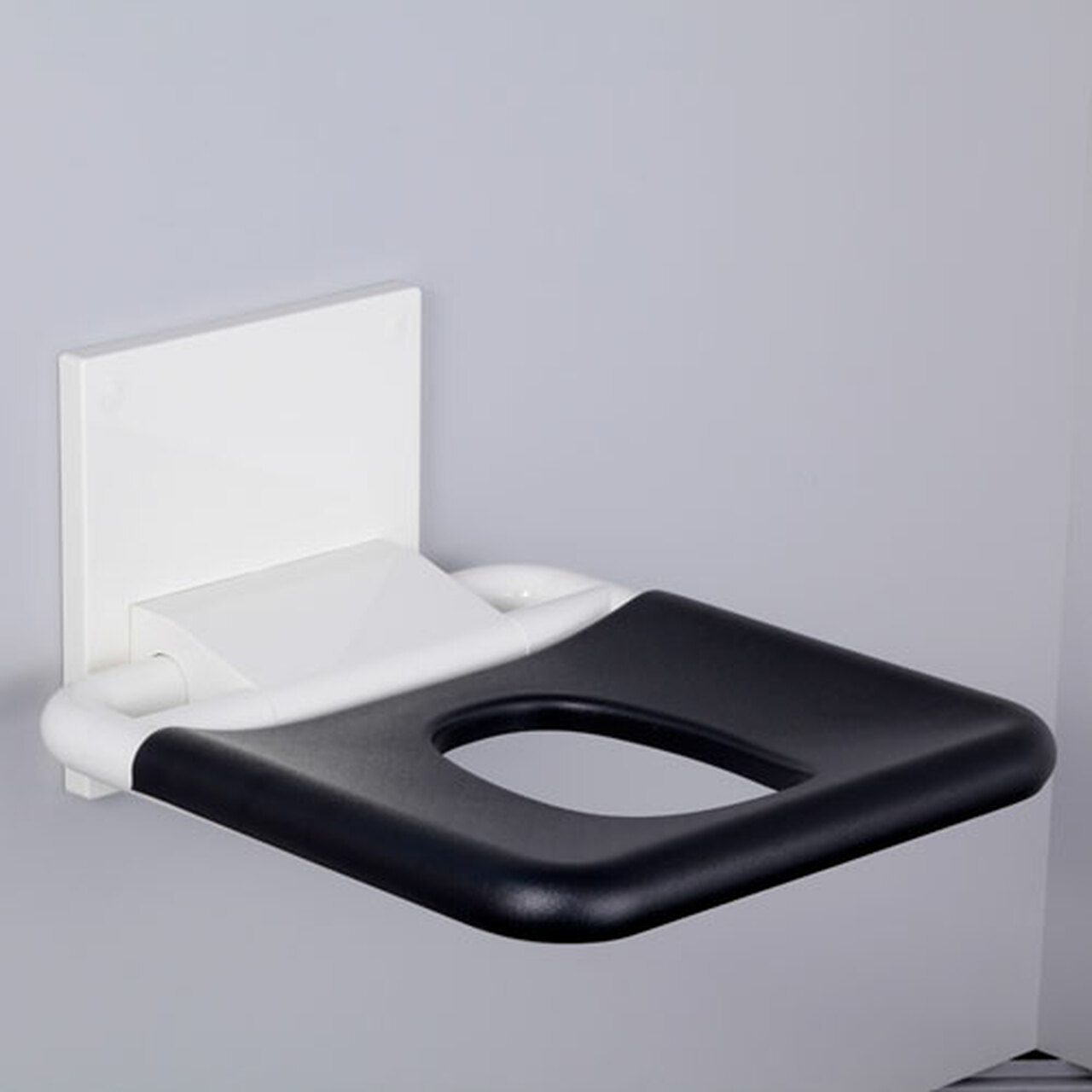 Phenomenal Pba Nylon Wall Mounted Fold Up Shower Seat With Elliptical Hole Ocoug Best Dining Table And Chair Ideas Images Ocougorg