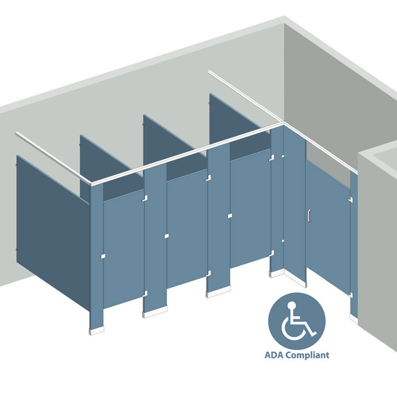 ADA Hardware Kit For Solid Plastic Partitions