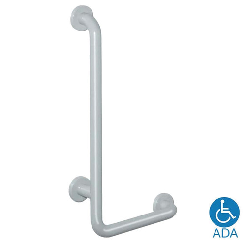 HEWI Nylon L Shaped Shower Grab Bar - Series 801