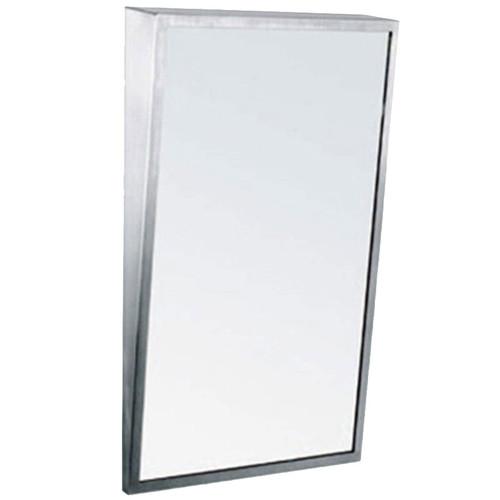 Gamco Stainless Steel Framed Fixed Tilt Mirror - Plate Glass