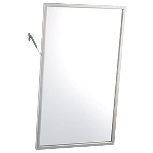 Gamco Stainless Steel Framed Adjustable Tilt Mirror - Float Glass