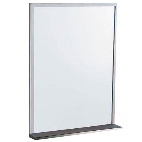 Gamco CS Series Channel Frame Mirror with Shelf - Float Glass