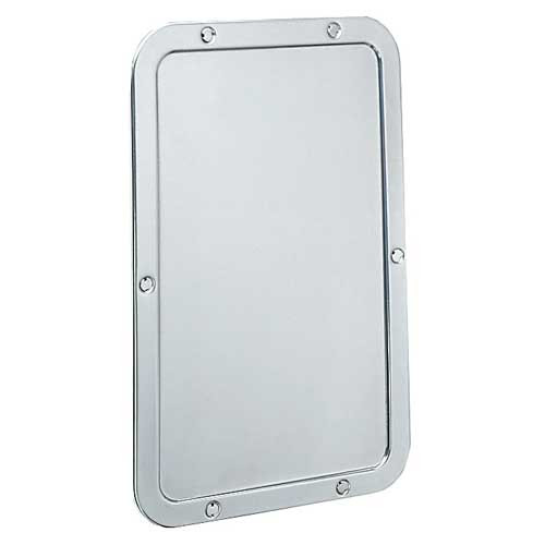 Bobrick Stainless Steel Front Mounted Security Mirror 942