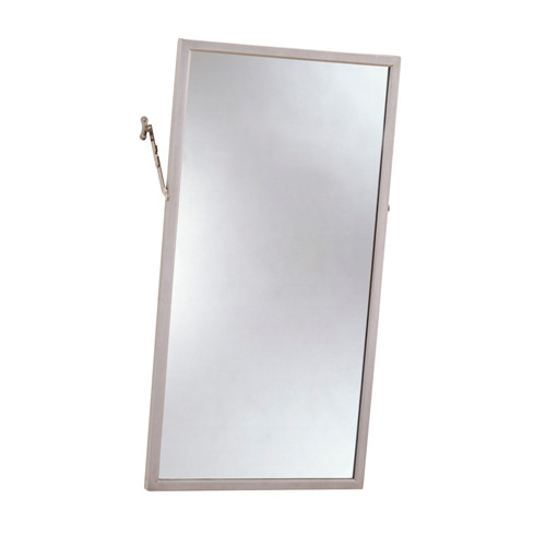 Bobrick Stainless Steel Frame Adjustable Tilt Mirror - Float Glass