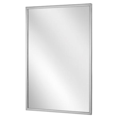 Bobrick Stainless Steel Channel Framed Mirror - Float Glass