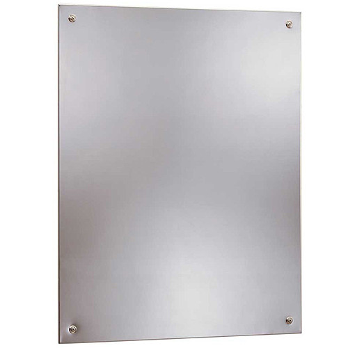 Bobrick Frameless Security Mirror - Polished 304 Stainless Steel
