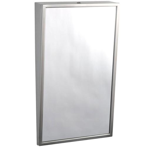 Bobrick Stainless Steel Framed Fixed Tilt Mirror - Float Glass