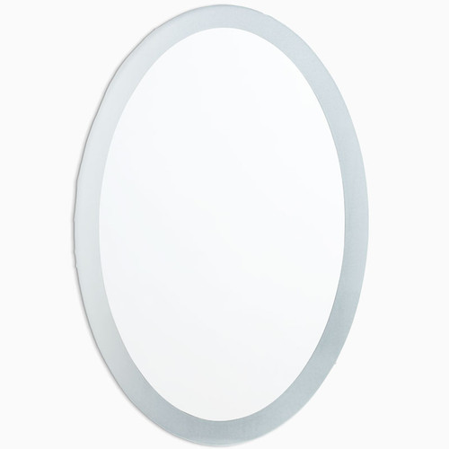 Kentwood Oval Frameless Mirror with Frosted Border