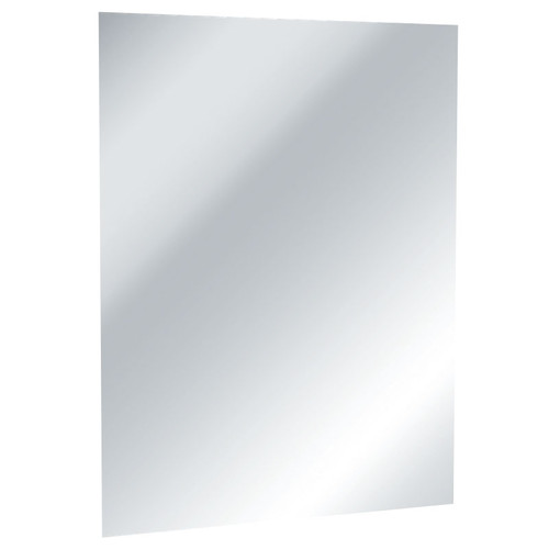 ASI Frameless Mirror with Masonite Backing - Polished Stainless Steel