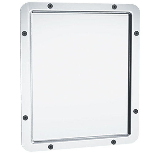 ASI Front Mounted Rounded Frame Security Mirror 104