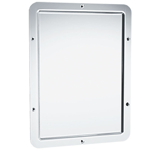 ASI Front Mounted One Piece Rounded Frame Security Mirror 107