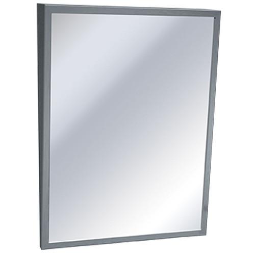 ASI Stainless Steel Framed Fixed Tilt Mirror - Plate Glass