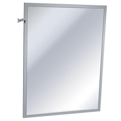 ASI Stainless Steel Framed Adjustable Tilt Mirror - Plate Glass