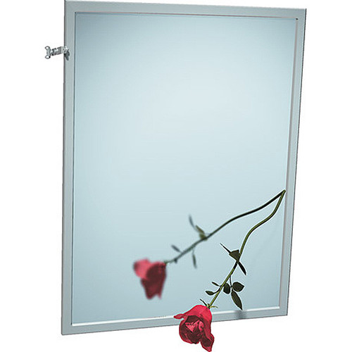 ASI Stainless Steel Framed Adjustable Tilt Mirror