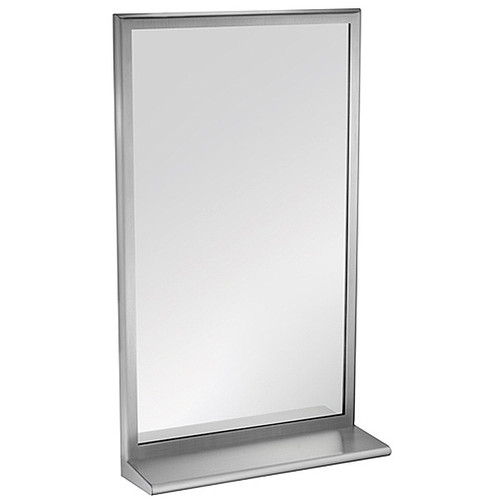 ASI Roval Collection Inter-Lok Stainless Steel Framed Mirror with Shelf