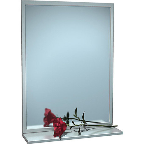 ASI Inter-Lok Stainless Steel Framed Mirror with Shelf