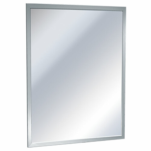 ASI Inter-Lok Stainless Steel Frame Mirror - Plate Glass
