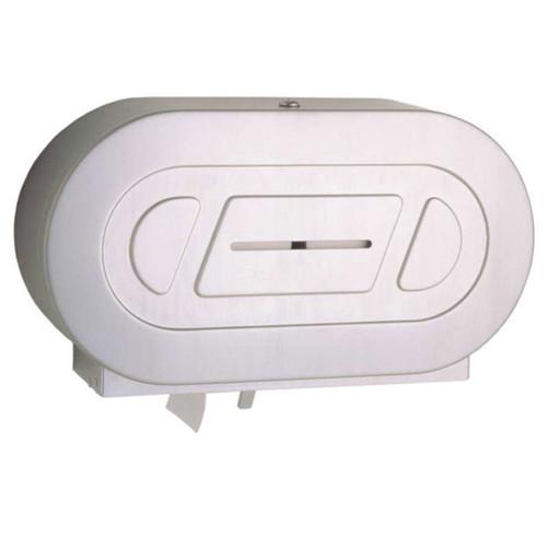 Bobrick Surface Mounted Twin Jumbo Roll Toilet Tissue Dispenser B-2892 - Classic Series