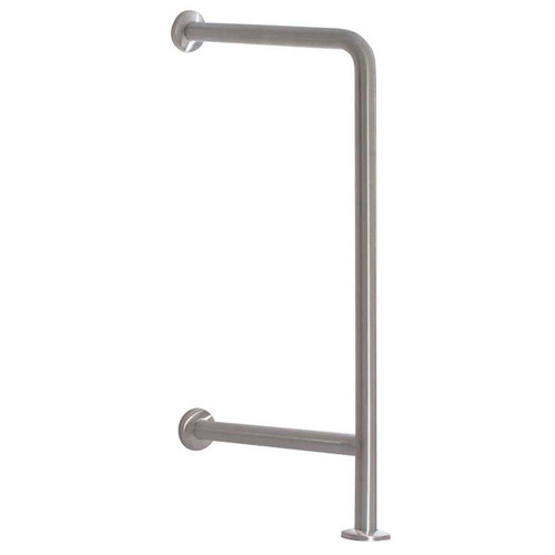 "Bradley Stainless Steel 18""L X 33""H Toilet/Water Fountain Grab Bar"