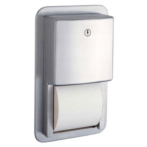 Bobrick Recessed Multi Roll Toilet Tissue Dispenser B-4388 - Contura Series
