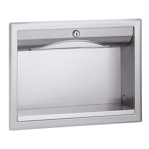Bradley Stainless Steel In-Wall Towel Dispenser with Exterior Shelf