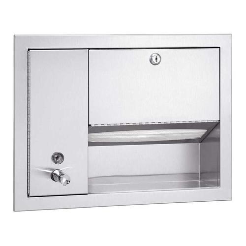 Bradley Stainless Steel Towel and Liquid Soap Dispenser