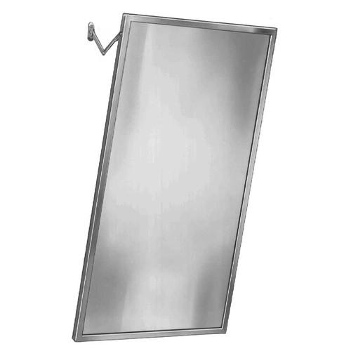 Bradley Stainless Steel Angle Frame Adjustable Tilt Mirror - Float Glass
