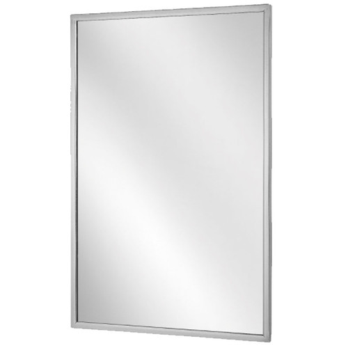 Bradley Stainless Steel Angle Frame Mirror - Float Glass