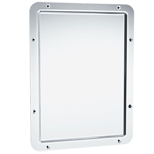 Bradley Integral Frame Security Mirror - Polished 304 Stainless Steel