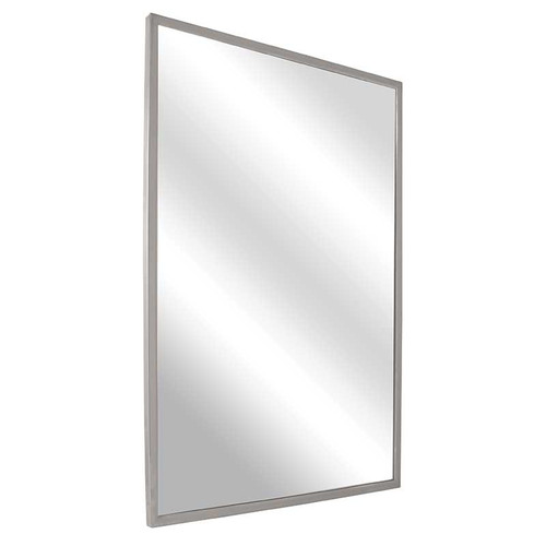 Bradley Stainless Steel Angle Frame Mirror - Tempered Glass