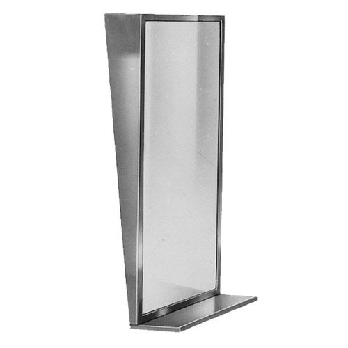 Bradley Stainless Steel Angle Frame Fixed Tilt Mirror with Shelf - Float Glass