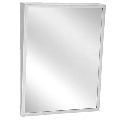 Bradley Stainless Steel Angle Frame Fixed Tilt Mirror - Float Glass