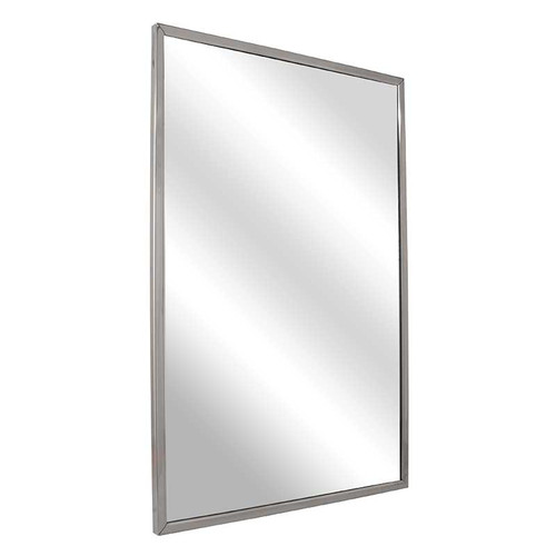 Bradley Stainless Steel Channel Frame Mirror - Float Glass